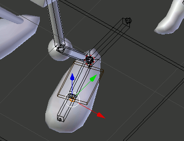 Blender Foot Bones Preview