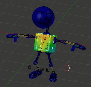 Blender Robot Body Weight Paint