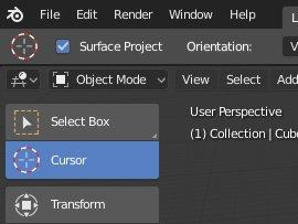 Blender 2.8 3D-Cursor