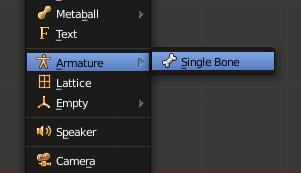 Blender Robot add Single Bone