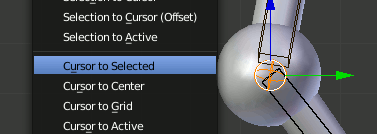 Blender Knee - Cursor to Selected