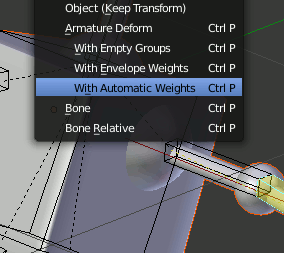 Blender With Automatic Weights