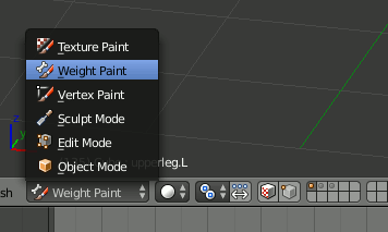 Blender Weight Paint