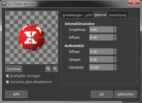 Gimp Object Material