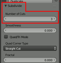 Subdivide: Three Cuts