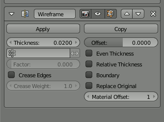 Blender Wireframe Tickness - Even Thickness