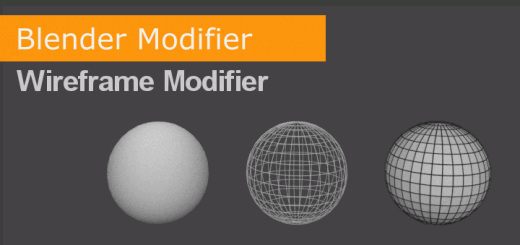 Blender Cycles Wireframe Modifier