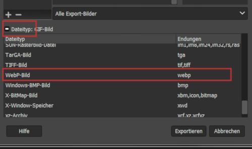 webP Export