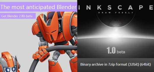 Blender 2.8 beta and Inkscape 1.0 Beta