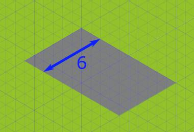 Breite = 6 Unterteilungen