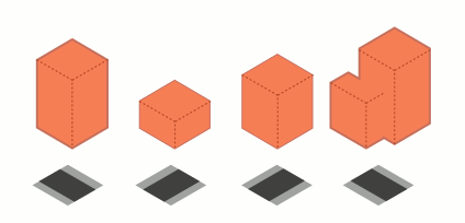 Isometric City Buildings Dummys