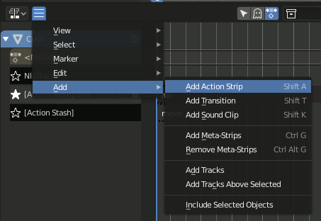 Add Action Strip