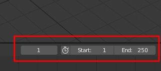 Blender 2.8 Start- und Endframe