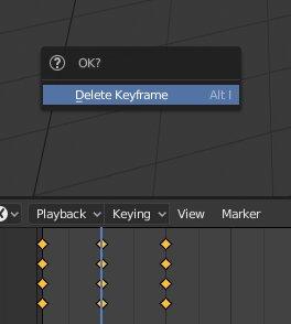Blender 2.8 - Delete Keyframe