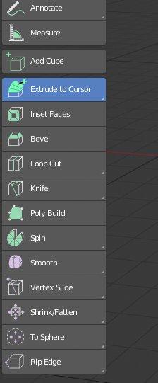 Blender 2.8 Toolshelf Edit Mode