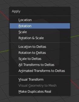 Blender 2.8 Apply Location, Rotation, Scale