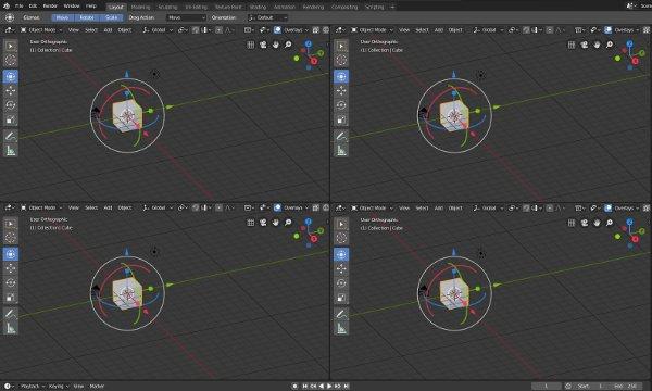Blender 2.8 Split View by Hand