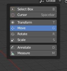 Blender 2.8 SHIFT-Spacebar