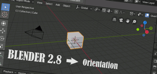 Blender 2.8 Start and Orientation