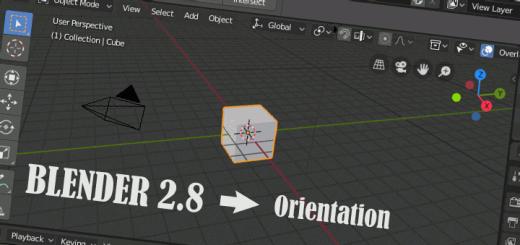 Blender 2.8 Start and Orientation
