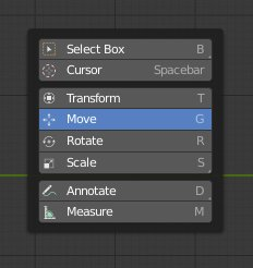 Blender 2.8 select Move Tool