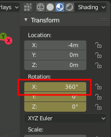 Blender 2.8 - Rotation 360°