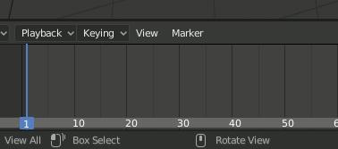 Blender 2.8 Timeline