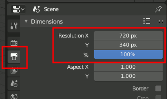 Blender 2.8 Render Dimensions