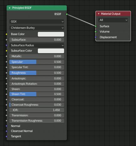 Blender 2.8 Principled BSDF
