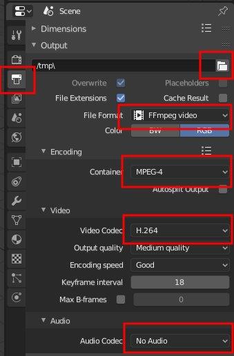 Blender 2.8 MPEG-4 Settings