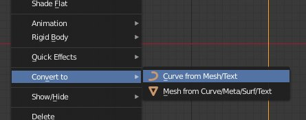 Blender 2.8 Curve from Mesh