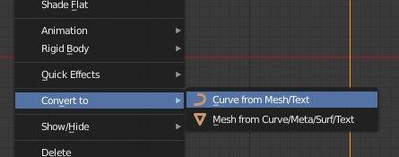 Blender 2.8 Curve from Mesh