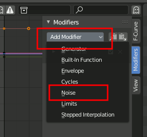 Graph Editor Noise Modifier