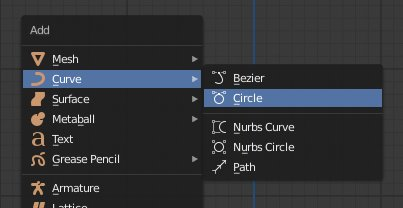 Blender 2.8 Add Curve - Circle