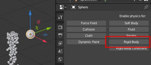 Activate Rigid Body in Blender