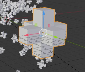 Blender 2.8 Particle Object Material
