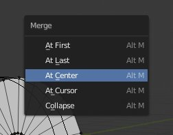 Blender 2.8 - Merge - At Center