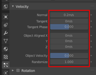 Blender 2.8 Velocity Settings