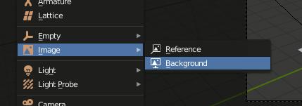 Blender Add Image - Background