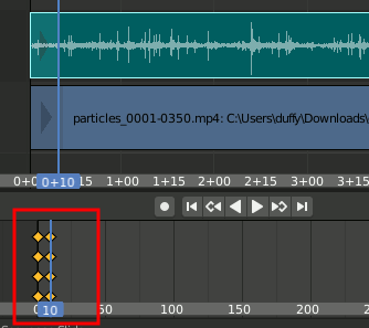 Audio Keyframes in Timeline