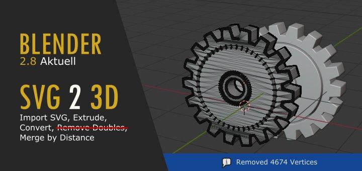 SVG nach Blender 3D