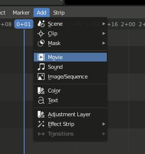 Blender 2.8 VSE - Add Movie