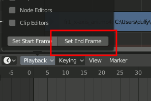 Set End Frame
