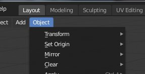 Blender 2.8 Object Tab