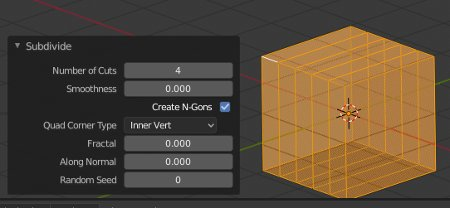 Blender Subdivide