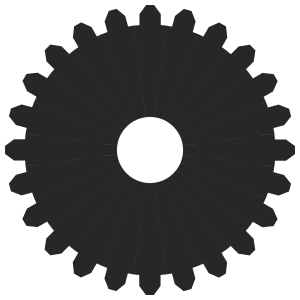 Inkscape Gear - Variation 2