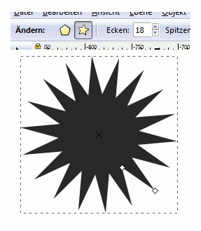 Inkscape Star Polygon