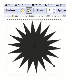 Inkscape Star Polygon