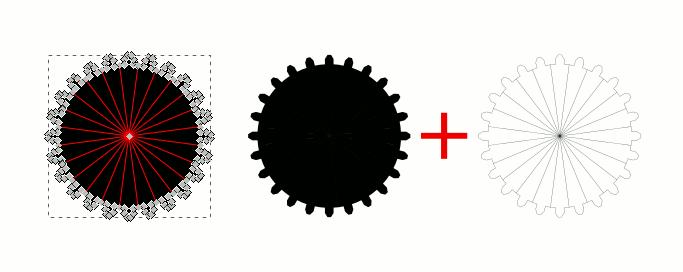 Inkscape Blitzer entfernen