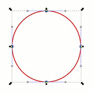 Circle with 4 Nodes